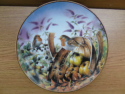 Danbury Mint Four Seasons Of Robins Plate Collection : Robins In Autumn