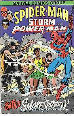 Spider-Man Storm & Power Man (Marvel, 1982) Smokescreen Cancer Society Giveaway