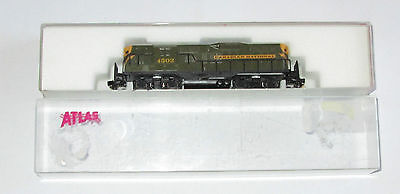 N - Atlas 4332; CN #4502 - GP-9 Diesel Locomotive [green & yellow]