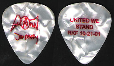 Aerosmith Pick Collection--9/11 Charity Guitar Pick-Joe Perry-Pearl/red Small!