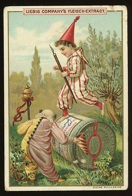 LIEBIG PLAYING CHILD  ~  German Trade Card