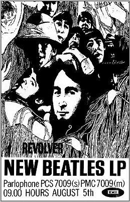 The Beatles Revolver Promo Poster 23.5 x 33 Free US Ship Reproduction UK Import