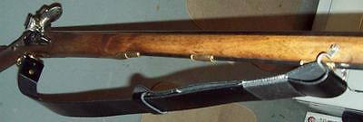 black Leather / Martini-Henry / gahhendra / Rifle Sling/ reenactor/ black powder