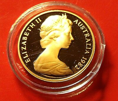 Low mintage PROOF 1982 Australia 1 Cent Copper, Nice coin possibly imperfect.