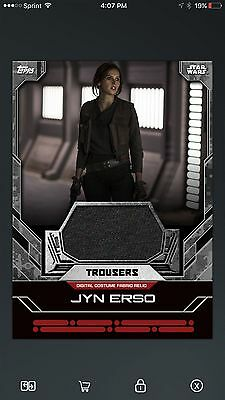 TOPPS Star Wars Card Trader Rogue One Relic Jyn Erso Costume Fabric Trousers