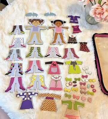 👗 Melissa & Doug Kids Playing Create Doll Toy Magnetic Dress 50 Pieces Play
