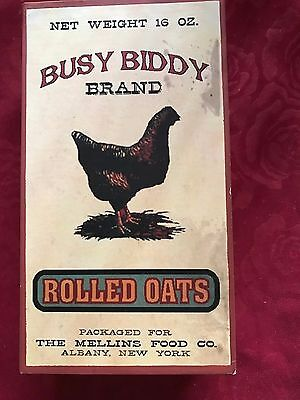 Collectable Old Busy Biddy Brand Rolled Oats Box