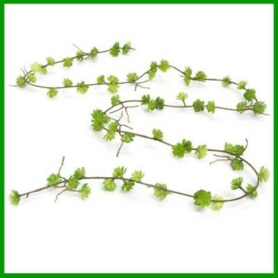 MINIATURE DOLLHOUSE FAIRY GARDEN Mini Succulent Garland Green 6 feet