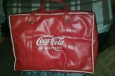 Vintage Coca Cola In Bottles Vinyl Resteraunt/picnic Carry Case