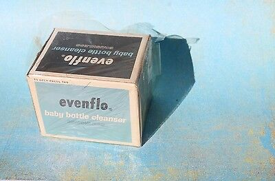 Vintage 1964 EVENFLO Baby Bottle Cleanser, 6 oz. NOS Advertising Box