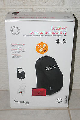 Bugaboo Bee Compact Transport Bag Travel Protect Stroller Black w/ Red Bag New