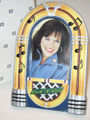 JUKEBOX PICTURE FRAME Classic Rock'n Roll Bubbler Juke Diner NOS Giftboxed!
