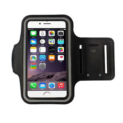 IPhone 6/7 Plus + Sports Gym Exercise  Armband Case Cover Black New USA Seller