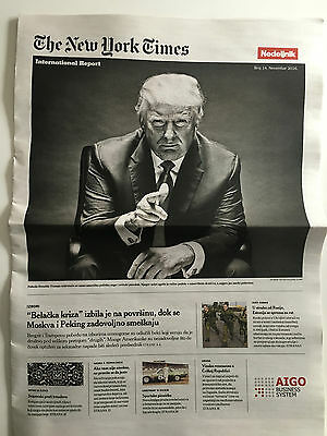 Donald Trump President New York Times International Report Serbia NYT