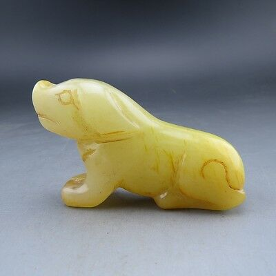 Chinese antiques, noble collection, manual sculpture, jade, dog pendant Z547