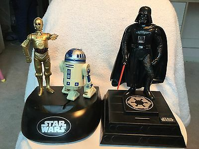 Star Wars Electronic Bank Lot of Two (2) Darth Vader and R2D2/C3P0