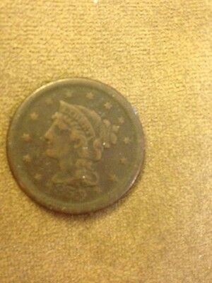 1853 Large Cent BN Circulated