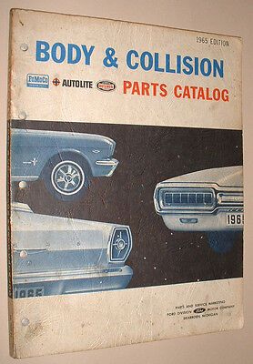 1965 Ford Body & Collision Parts Catalog Mustang