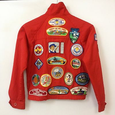 VTG 70s Boy Scouts Jacket Youth SZ M Mens XS Patches 80s Eagle