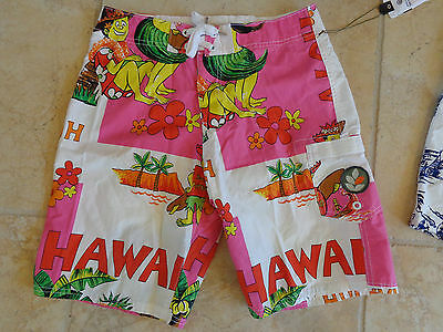 EVER Hawaiin print swim trunks boardshorts size 30 NEW with tags