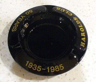 1985 HAROLDS CLUB 50 Year Commemorative Ashtray - Mint!