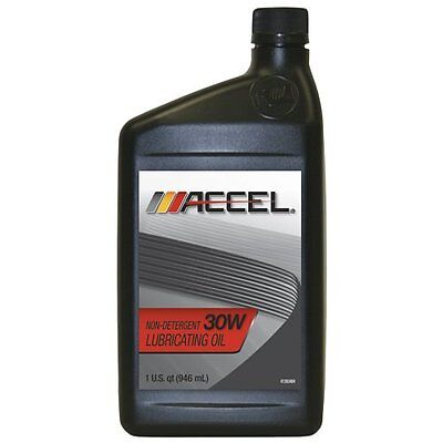 Accel 80511 SAE 30 Non-Detergent Motor Oil - 1 Quart Bottle (Case of 12) New