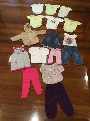 16 Baby Girls Size 0 Bulk Clothes, Excellent Condition!