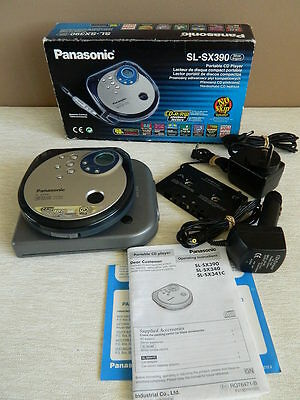 Panasonic SL-SX390 Portable Cd Player in Box with Accessories