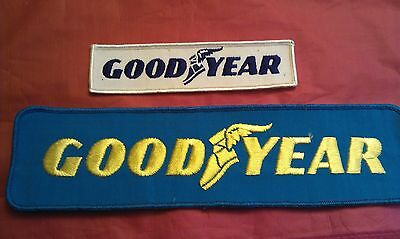 """Lot Of 2 Vintage Never Used Goodyear Tire Racing 12 """" Uniform Badge Patch-Nice"""
