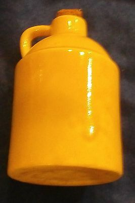 Stoneware Pottery Jug With Handle Yellow 4.5 Inches Tall