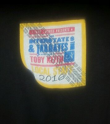 Toby Keith Interstates & Tailgates Summer 2016 Xl Local Crew Shirt