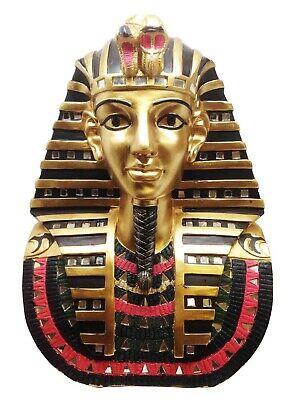 "Egift Large 14"" Height Ancient Egyptian Pharaoh King Tut Mask Bust Figurine"