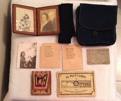 1945 World War 2 North Africa Personal Naval Military Items Postcards Photos ++