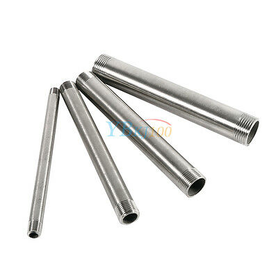 """1/4""""-1"""" 304 Stainless Steel Long Male x Male Threaded Pipe Fittings 200mm BSP"""