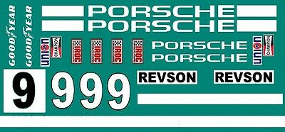 #9 Peter Revson Porsche IROC 1/24th - 1/25th Scale Decals