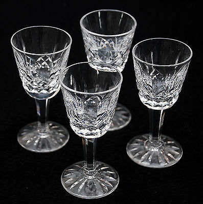 """4 Waterford ~ Lizmore ~ Liqueur Cordial Glasses  3 1/2"""""""