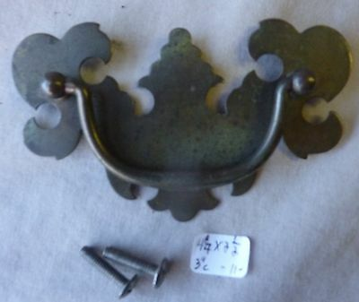"""Drawer pulls/knobs/drop bale 3"""" center  Brass Plated Chippendale 4 1/4(per each)"""