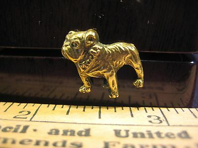 MACK TRUCKS BULLDOG VINTAGE LAPEL ADVERTISING HAT or LAPEL PIN GOLD TONE