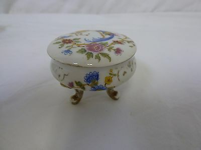 LIMOGES Vintage Beautiful Porcelain Jewelry Trinket Pill Box Made In France