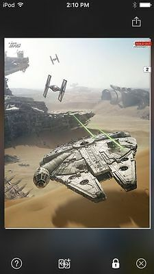 Topps Star Wars Digital Card Trader Force Awakens Ships Falcon Jakku Insert
