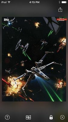 Topps Star Wars Digital Card Trader Force Awakens Ships Space Battle Award