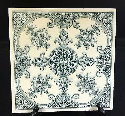 """English Architectura Tile---Minton---Lovely Condition---6.0"""" Square--Buy It Now!"""