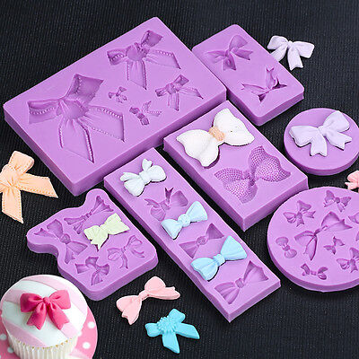 Bowknot Bows Silicone Fondant Cake Cookies Decorating Chocolate Baking Moulds