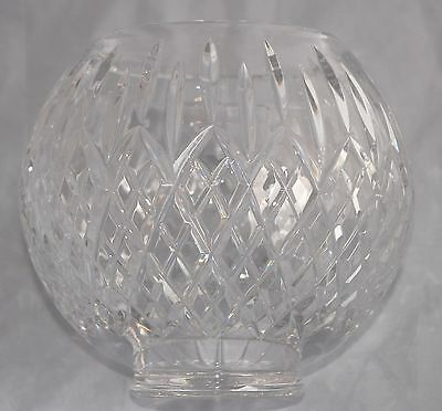 Magnificent STUART CRYSTAL Heavy Large Rose Bowl/Vase - Diamond & Vertical Cuts