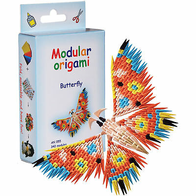 ATH Press Butterfly Modular Origami Kit AN055 18x13 cm 3D Paper 340 Modules NEW!