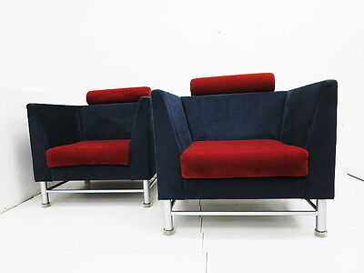 ETTORE SOTTSASS KNOLL INTERNATIONAL 2 EASTSIDE SESSEL 80er JAHRE MEMPHIS AERA
