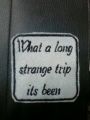 Grateful Dead Lyric Patch, Embroidered Label Cover, Felt Patch