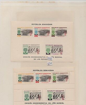 Dominica MLH 16 souvenir sheets collection lot  1956 1958 1962 Dominacan