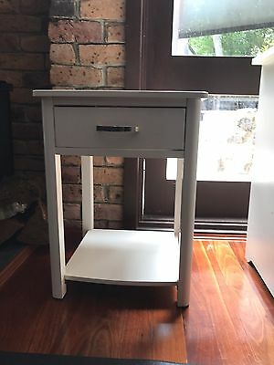 White Bed Side Table And Desk Great Condition !!