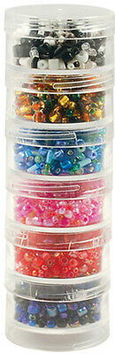"""Bead Storage Screw-Stack Canisters 1.5""""X.75"""" 6/Pkg-"""